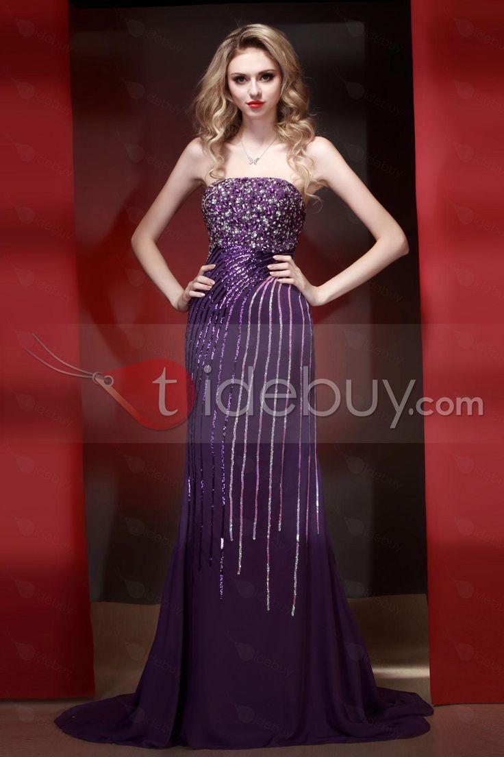 マーメイド床まで届く長さコートトレーンイブニングページェントドレス