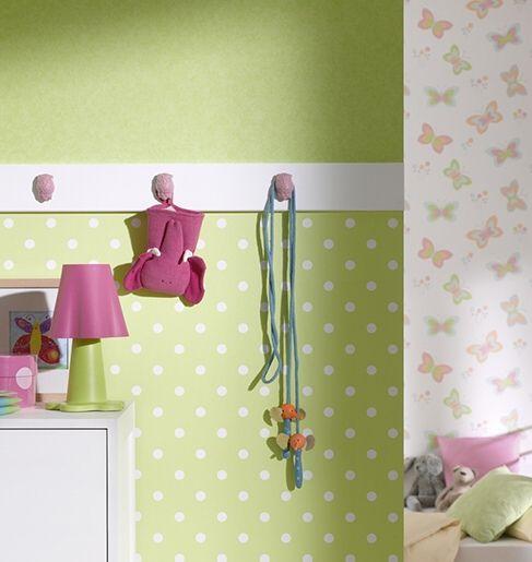 E-color - Tapety na zeď - Tapety na zeď Fantazie puntíky zelená