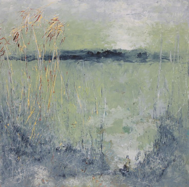 Art oil and cold wax painting sold for Wax landscape