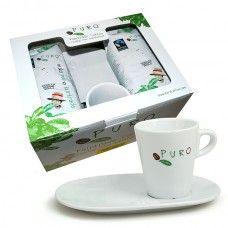 Promopack Puro gemalen koffie + kopje & schoteltje
