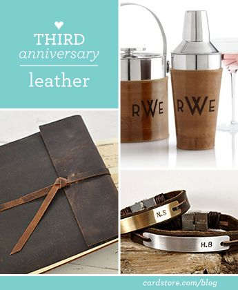 Third wedding anniversary gift ideas - leather | Cardstore Blog