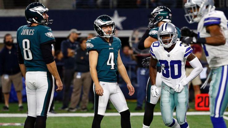 Wentz, Eagles roll over Cowboys 37-9 after losing kicker