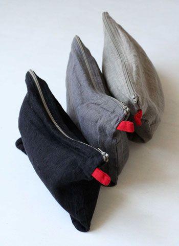 manon linen pouch