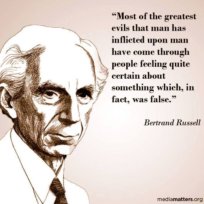 response to bertrand russel s The usual christian response to a critic is to call him names and downgrade him by attacking his character  it's time to prove bertrand russell wrong:.