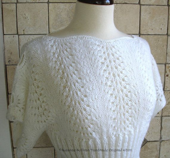 PDF Knitting pattern, Pullover lace Top. via Etsy.