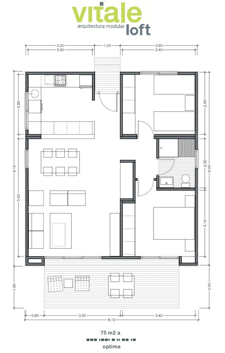 Las 25 mejores ideas sobre planos de casas prefabricadas - Planos de casas de una planta pequenas ...