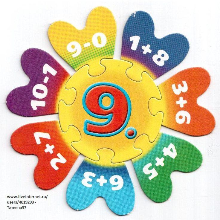 Puzzel met plus- en minsommen omtrent het getal 9.