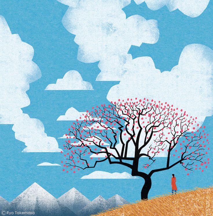 ryo takemasa illustratore paesaggio giapponese