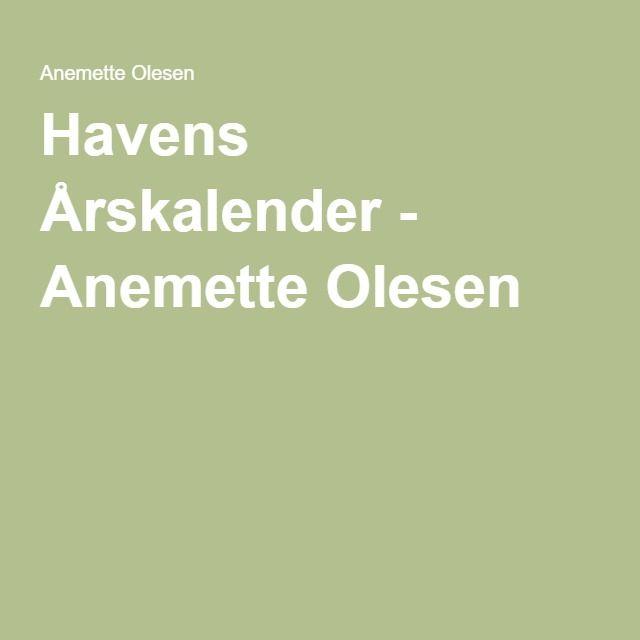 Havens Årskalender - Anemette Olesen