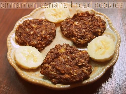 30 Calorie Cinnamon Banana Bread Cookies (No sugar added, vegan, & gluten free)