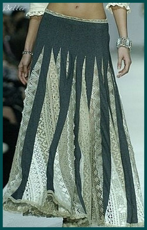 Текстильные фантазии и не только: Джинсовые юбки: