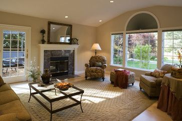 Overstuffed Chairs Design Ideas, Pictures, Remodel, and Decor - page 4 like furniture placement in front of window!