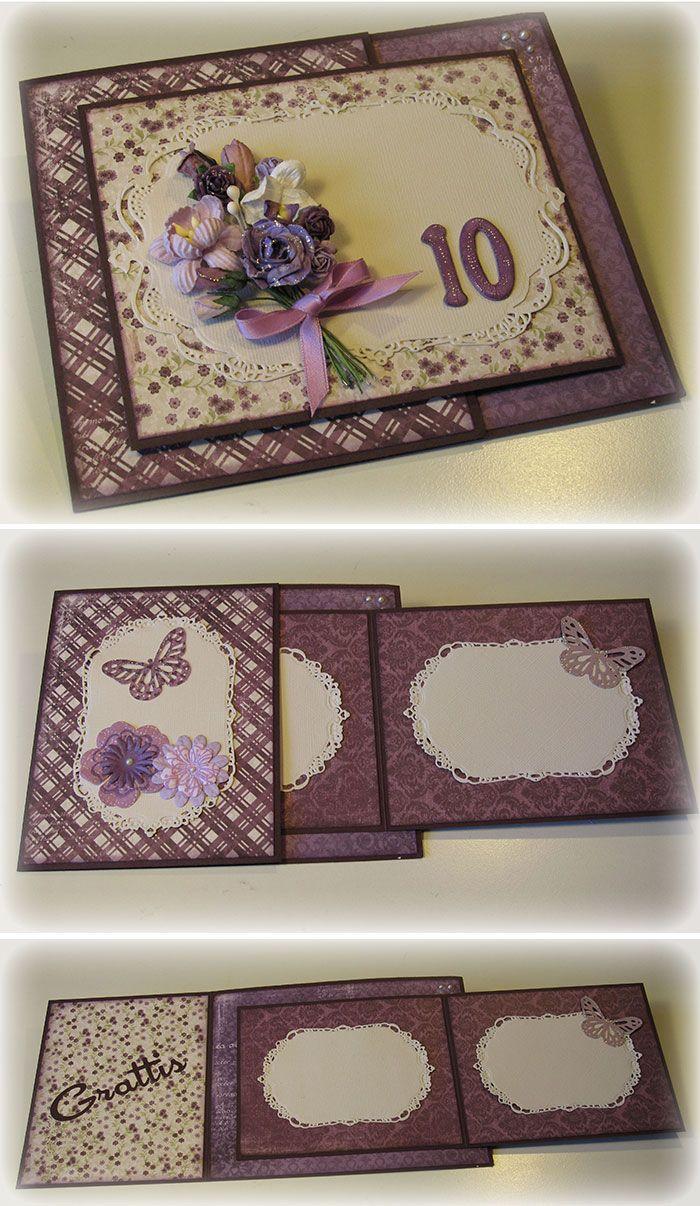 Fancy folded card :)                                                                                                                                                      More
