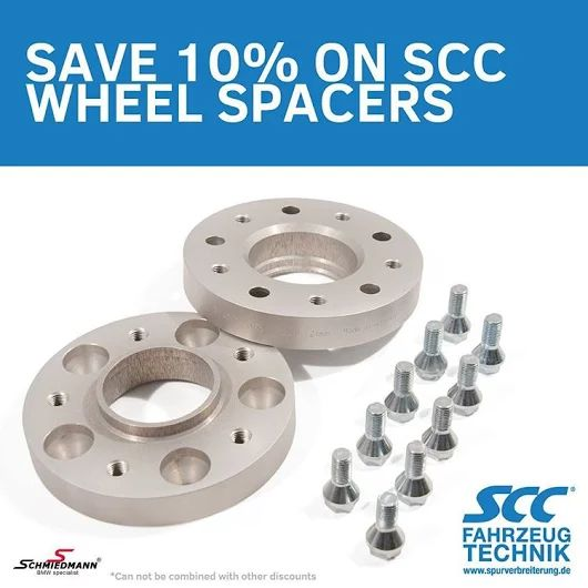 https://www.instagram.com/p/BEqifmhG9Ji/ Save 10% on our SCC wheel spacers right now! http://goo.gl/HqOkk8 #schmiedmann #bmwspecialist #bmw #scc #wheelspacers