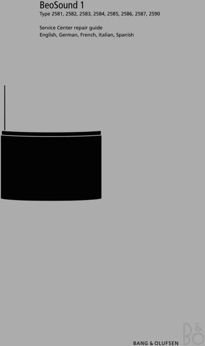 Bang & Olufsen Beosound-1(type 2581 , 2582 , 2583 , 2584 , 2585 , 2587 DOWNLOAD
