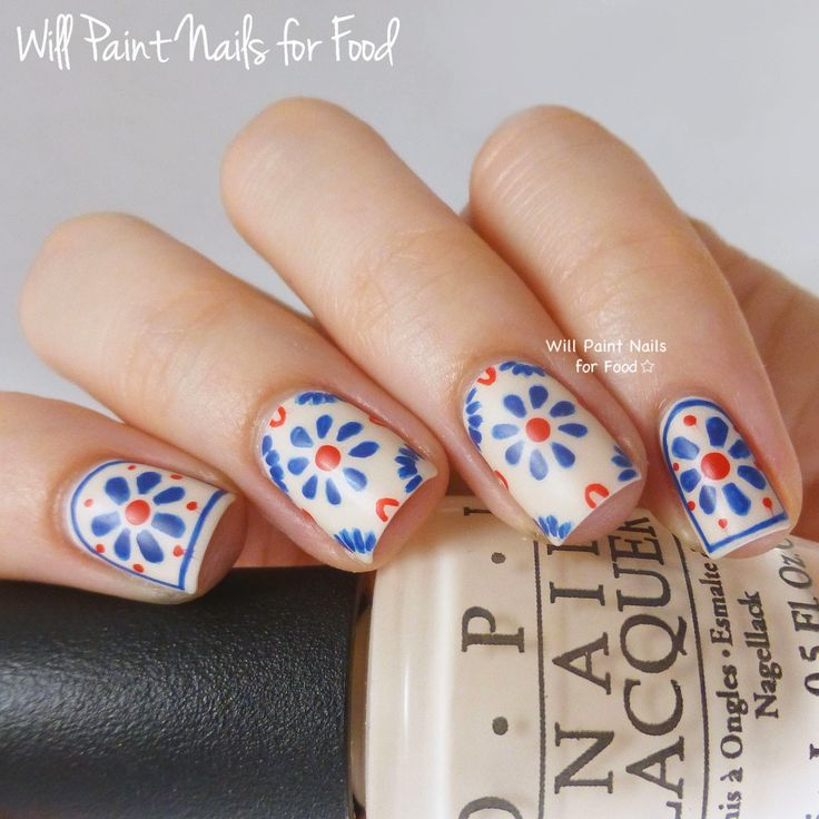 Nails of the Day: Talavera Tiles