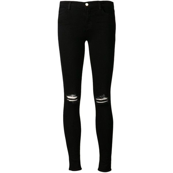 J BRAND super skinny jeans ($240) ❤ liked on Polyvore featuring jeans, pants, bottoms, calças, j brand, 5 pocket jeans, zipper skinny jeans, skinny fit jeans and j-brand skinny jeans