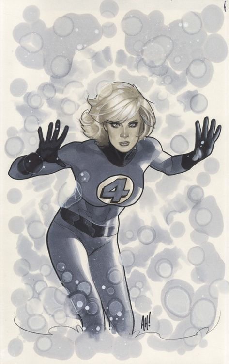 The Fantastic Four's Invisible Woman by Adam Hughes