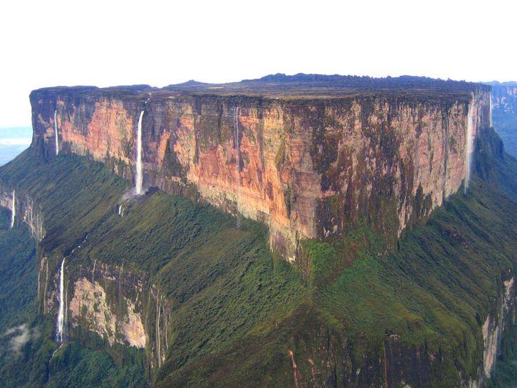 Monte Roraima - A chapada mais alta do mundo - Gigantes do Mundo - BrazilBrazil,  Drop-Off, Mount Roraima, South America, Cliff, Venezuela, National Parks, Earth, Places
