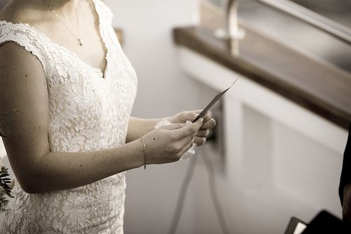5 steps to getting over your wedding vow writer's block | Offbeat Bride
