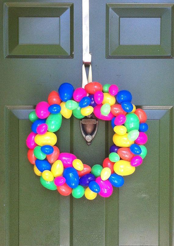 Eggs!!!!! Super cheap DIY Easter wreath, supplies needed less than $10 if u look @Sue Goldberg Wales stores