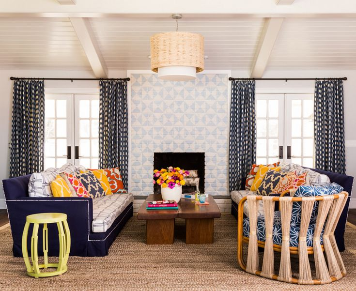 Painted Brick Living Room Mediterranean Decorating Ideas With Andrew Howard  Interior Design Wood Cof