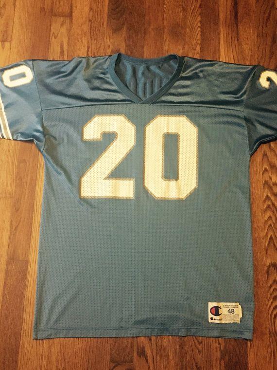 Barry Sanders #20 Detroit Lions Champion NFL Jersey Sz. 48