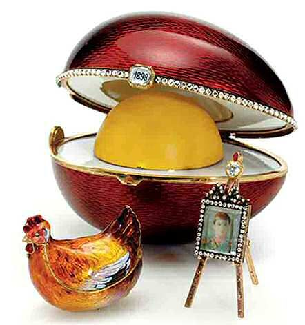 "Faberge Imperial Easter egg with ""treasure"" exposed.  One of my favorites"