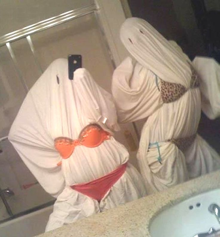 Risque halloween ghosts. I have found this years costume!!! hahahah @McKenzie Sager funniest thing ever