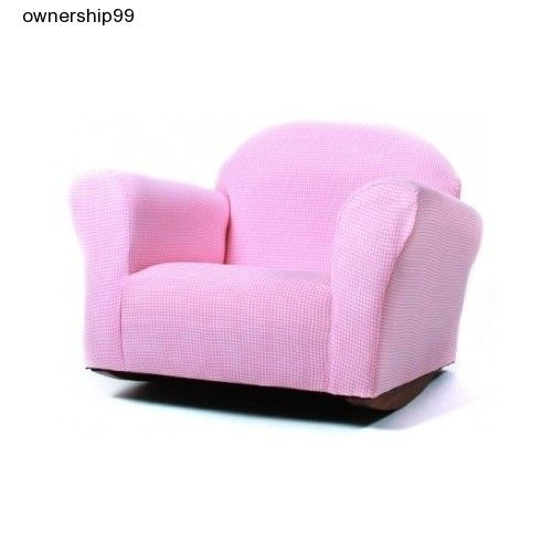 Kids Rocking Chair Girls Pink Chairs Bedroom Playroom Furniture Toddler Recliner #Keet