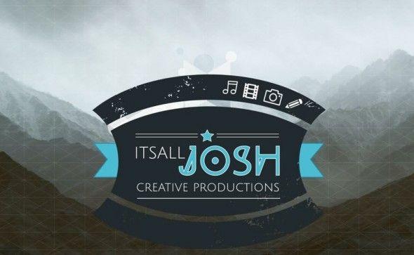 Logo voor Josh van den Berg, muzikant, filmmaker, fotograaf en blogger. http://itsalljosh.com/