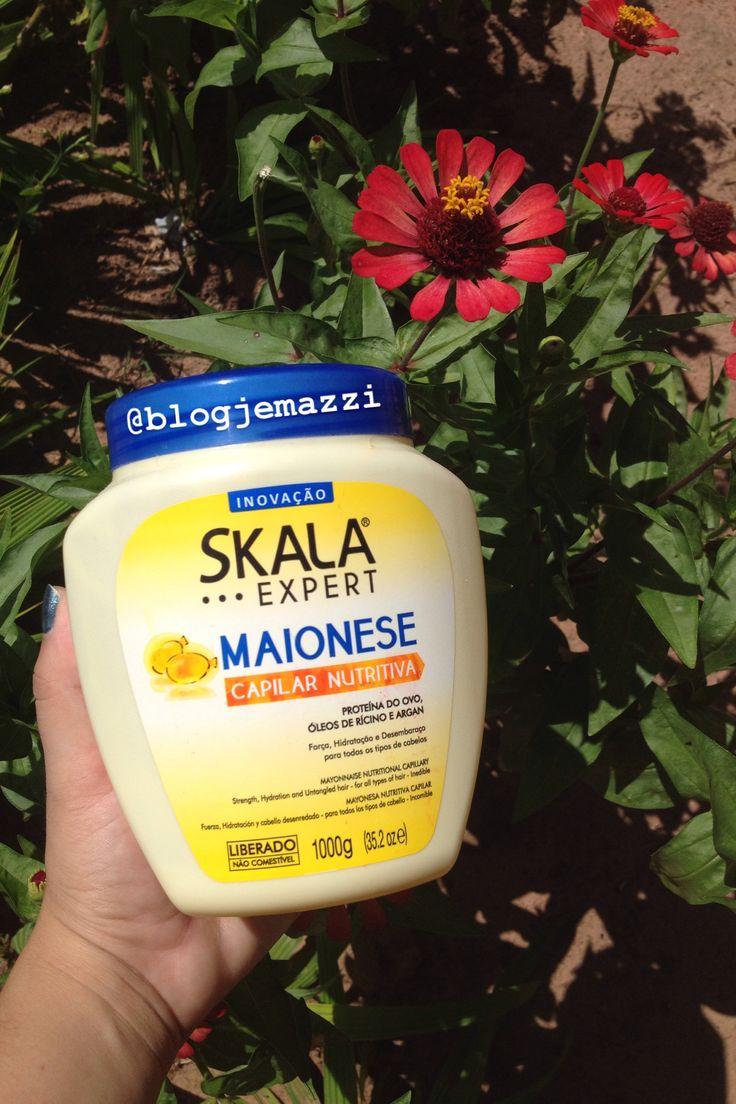 Resenha da Maionese Capilar Nutritiva da Skala Cosméticos <3 Estou apaixonada pela Skala Cosméticos <3 Acrescente ela no cronograma capilar de vocês, meninas. Vocês vão amar o resultado no cabelo. Corre para o blog.