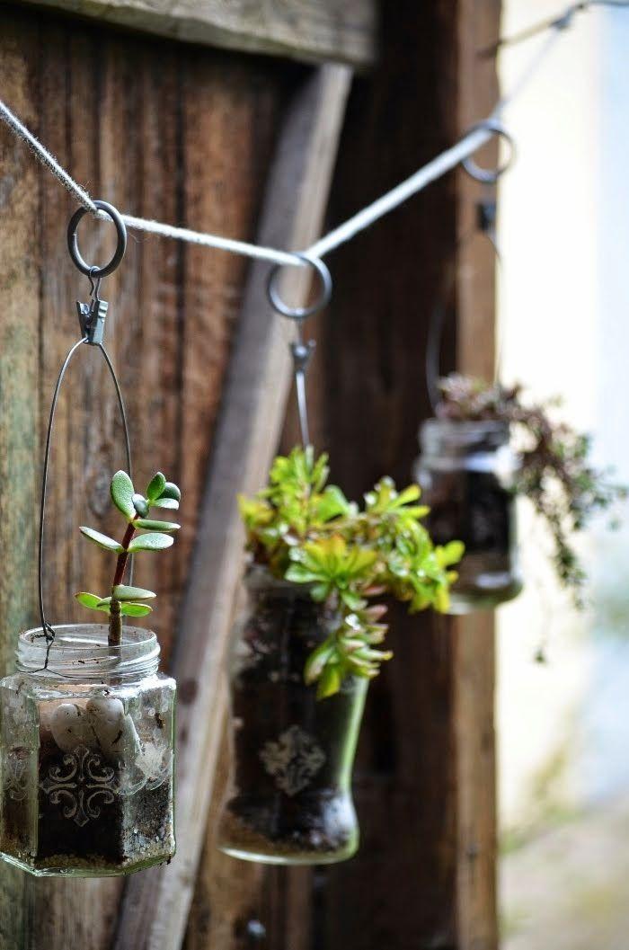 DIY - recyklované závěsné květináče | Jane at home