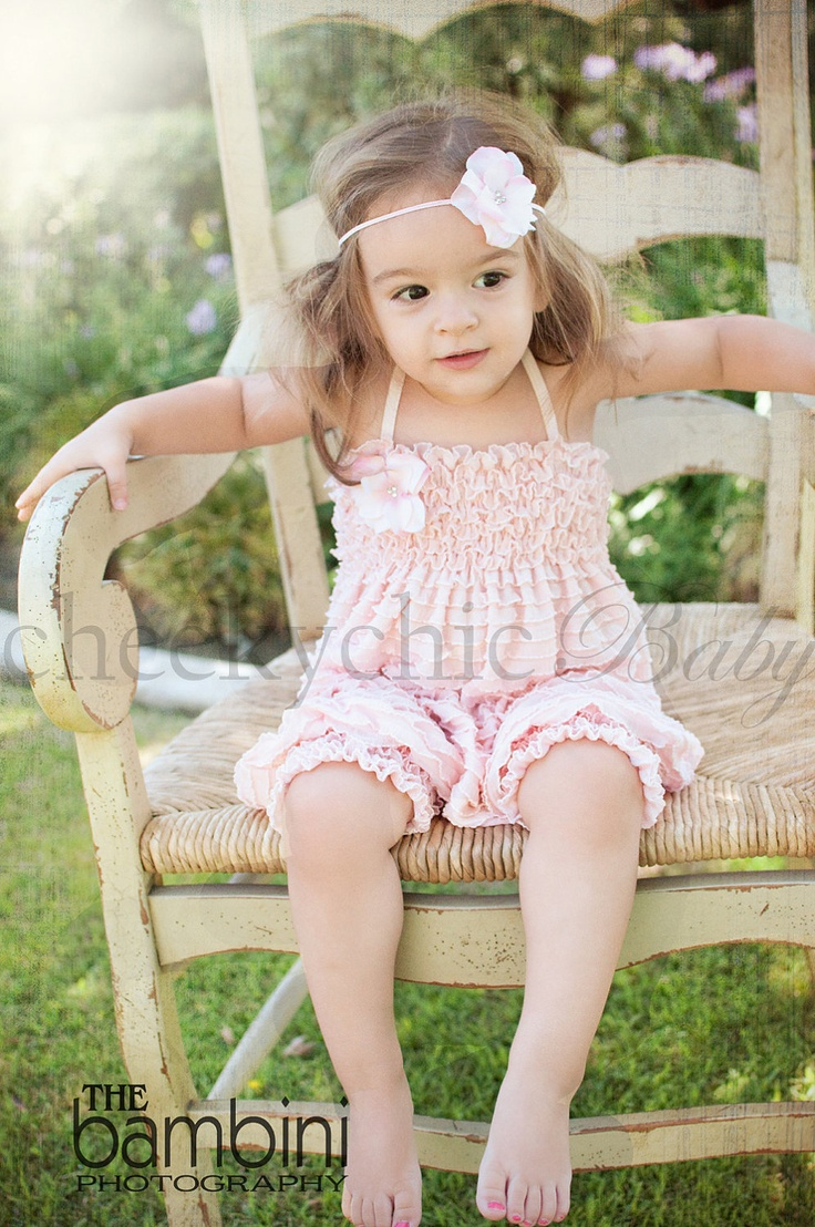 Ruffle Romper VINTAGE PINK  by Cheeky Chic Baby by cheekychicbaby, $44.00