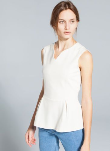Sold Out Uterque Zara Company Peplum Top Size s New Season 2014 | eBay