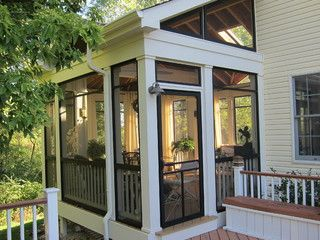 Screened Porch Sanctuary - traditional - porch - chicago - by Your Favorite Room By Cathy Zaeske