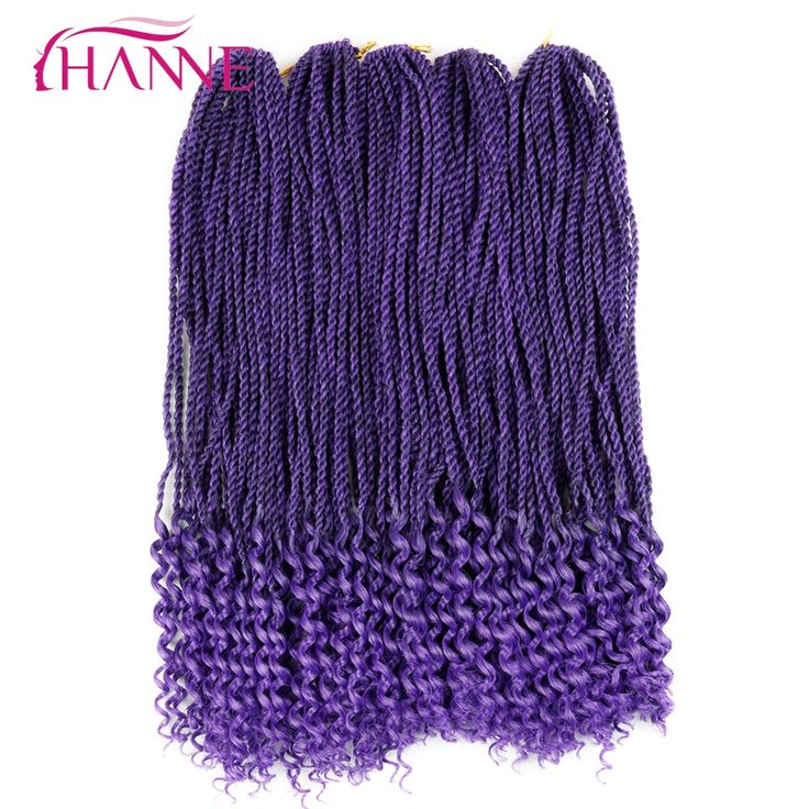 "HANNE 20"" Curly Senegalese twist crochet braids hair extensions 28Strands/Pack 1B blue Low Temperature synthetic braiding hair"