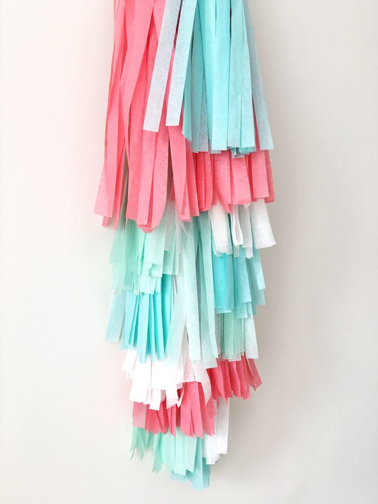 Excited to share the latest addition to my #etsy shop: Coral Mint Tassel Garland Coral Birthday Wedding Aqua Tissue Tassel Bunting Coral Nursery Tassel Banner Summer Mint Coral Party Decorations