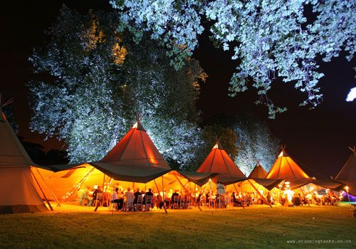 TipiKata Tents. Indoor and Outdoor lighting contrasts