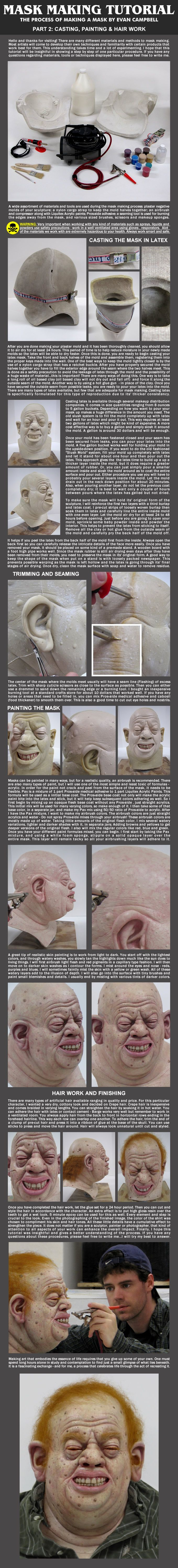 Mask Making Tutorial - Part Two