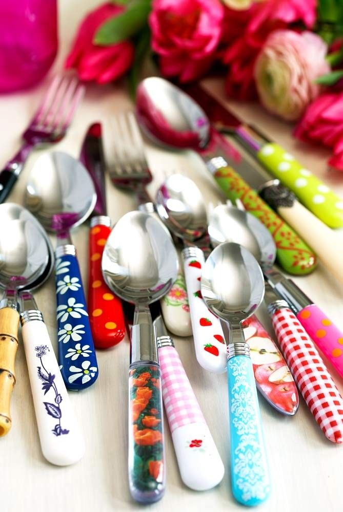 Mix and Match Cutlery Set - so many crazy pattern combos!