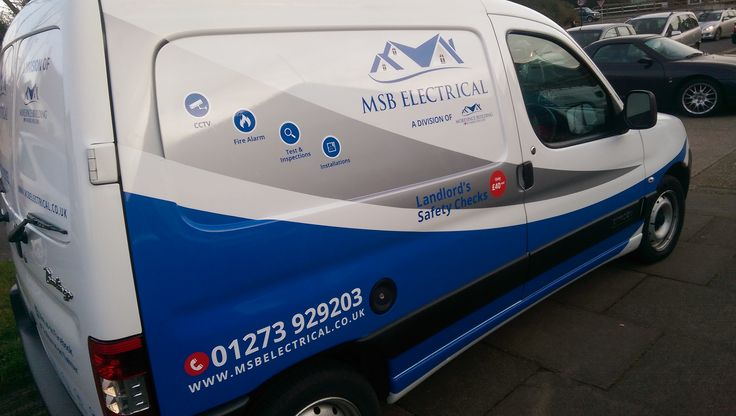 MSB Electrical van sign writing done by The Sussex Sign Company