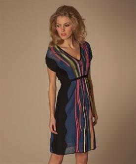 Missoni gebreide streep jurk
