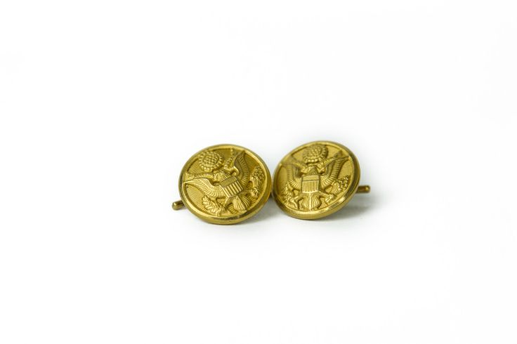 Brass Cufflinks | Sword & Plough is a quadruple bottom line bag company that works with veterans to repurpose military surplus fabric into stylish bags. They also donate to veteran causes.