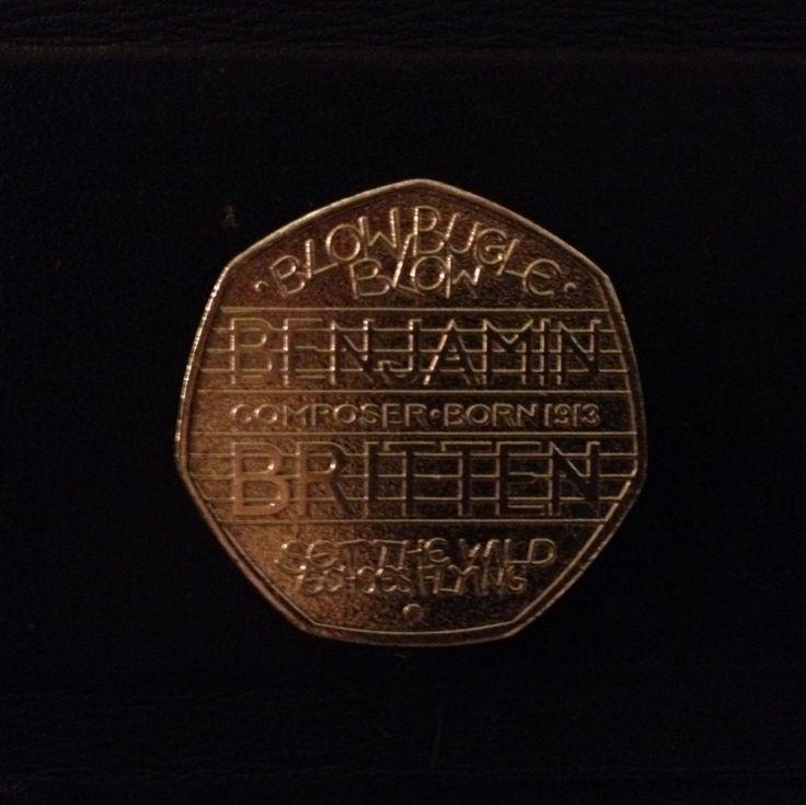 Benjamin Britten 50p