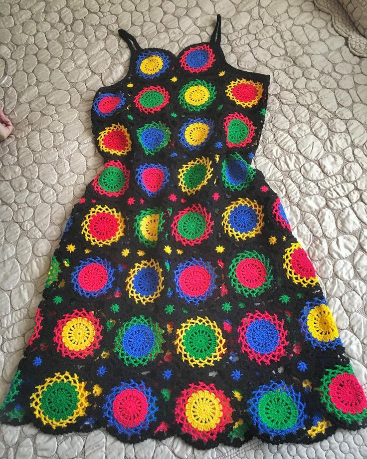 Nihayet elbisem bitti ❤️ #crochet #crochetlove #handmade #bylove #crochetdrees