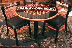 Image detail for -davidson tables chairs harley davidson poker table and chairs set w ...