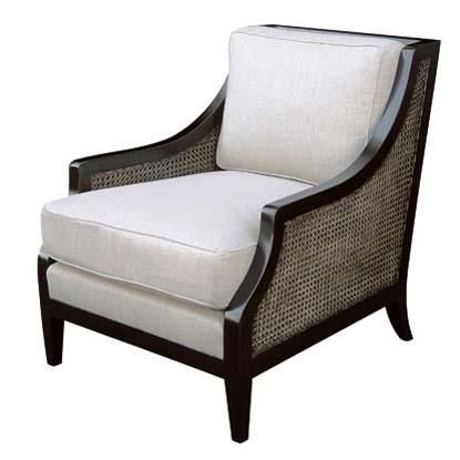 Attractive Hardwood Frame Plantation Style Lounge Chair