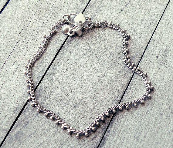 anklet bracelet bell anklet silver anklet ethnic by CarmelaRosa