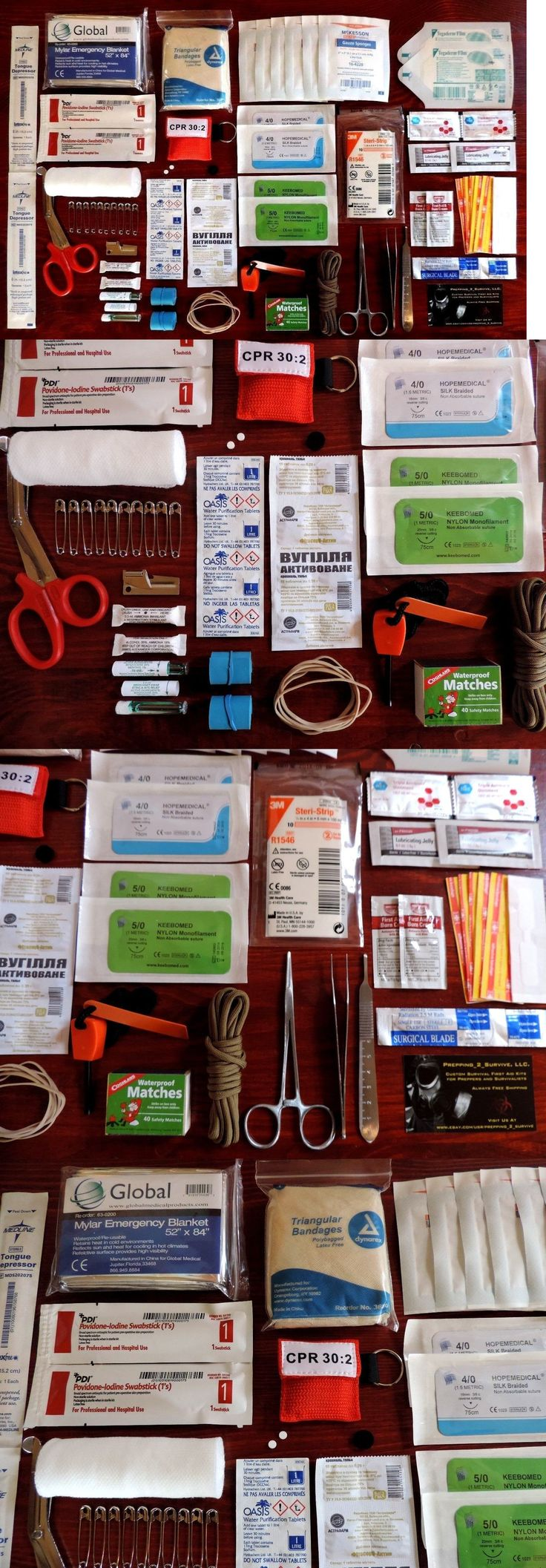 Kits and Bags: Survival First Aid Kit - Bug Out Bag - Emergenc Trauma Surgical Suture Kit -> BUY IT NOW ONLY: $38.94 on eBay!